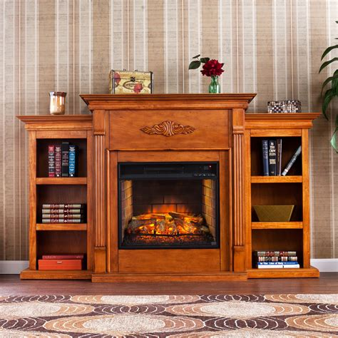 tennyson bookcase electric fireplace southern enterprises tennyson infrared electric fireplace