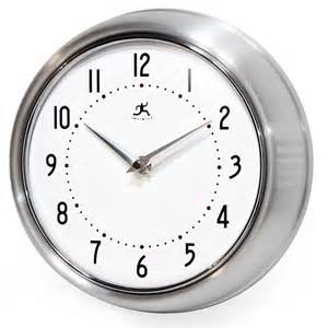 Wall Clocks The Retro Silver Wall Clock By Infinity Instruments