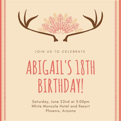 18th invitation templates free 18th birthday invitation templates canva
