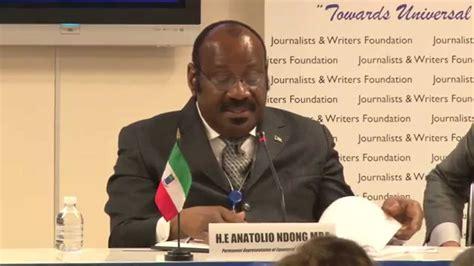 Anatolio Ndong Mba United Nations h e anatolio ndong mba permanent representative of