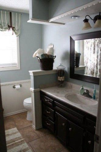 sherwin williams honest blue sw brown bathroom
