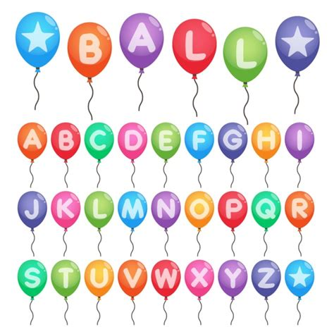 Alphabet Balloon colorful alphabet in balloons vector free