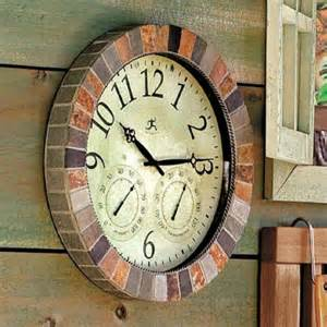 patio clocks slate indoor outdoor clock traditional outdoor clocks