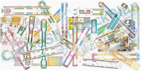 cruise ship floor plan cruise ship deck plans cruisemapper