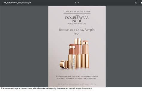 email format estee lauder free estee lauder double wear makeup stick sle