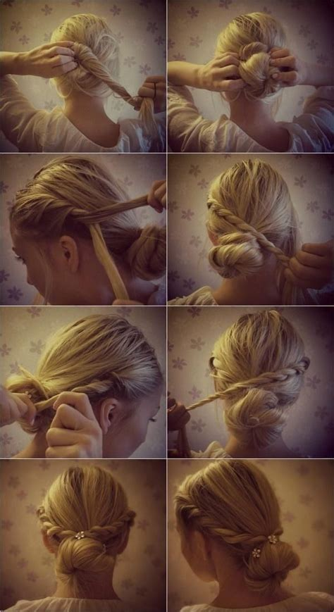 cute hairstyles vintage braided updo hairstyles tutorials cute bun updos for