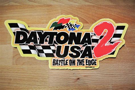 Daytona Logo 2 daytona usa 2 seat decal logo arcade shop