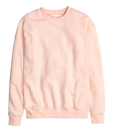 H M Sweatshirt In Pink Lyst