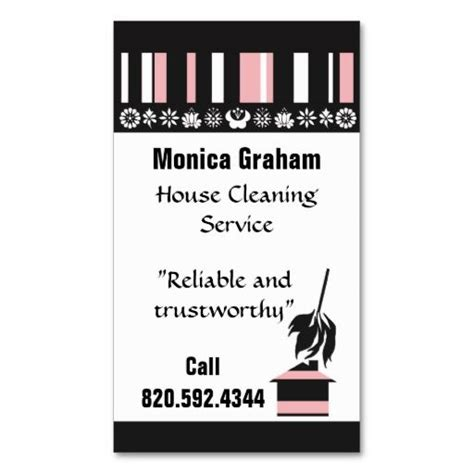 Cleaning House House Cleaning Retro Business Card Ez Fill In Cleaning