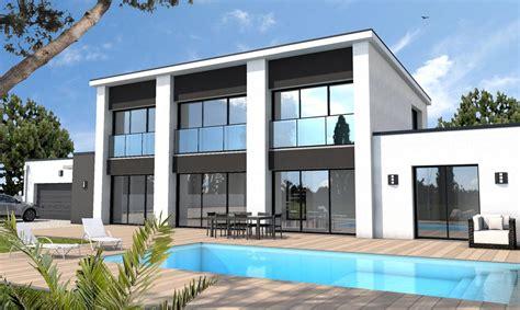 Plan Maison Moderne Contemporaine by Maison Moderne Sur Mesure 44 56 85 Depreux Construction