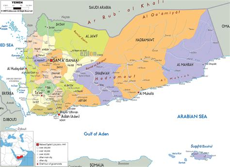 printable map of yemen large detailed administrative map of yemen yemen large