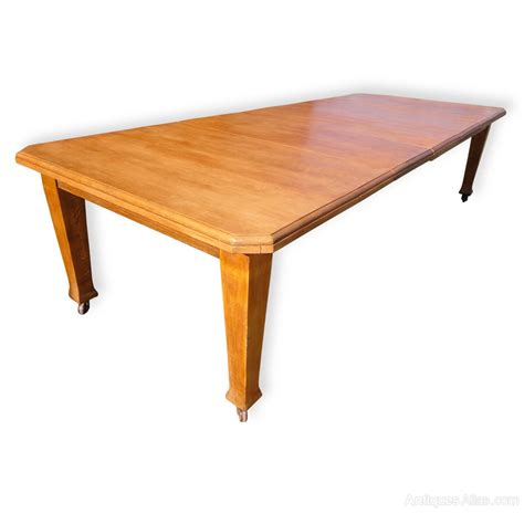 10ft Dining Table 10ft Antique Arts Crafts Oak Extending Dining Table Antiques Atlas