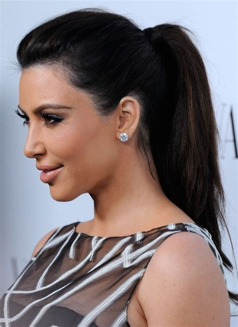 cute hairstyles for straight hair in a ponytail kim kardashian hairstyles ponytail hairstyle for straight