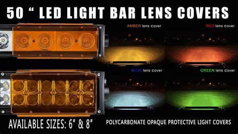 led light bar cover 50 inch light bar lens covers