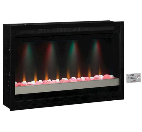 36 quot electric built in contemporary fireplace insert at