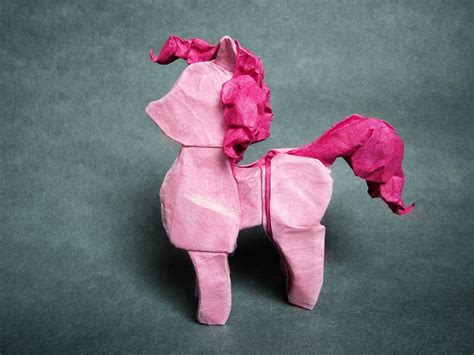 How To Make A Paper Pie - pinkie pie origami by mitanei on deviantart
