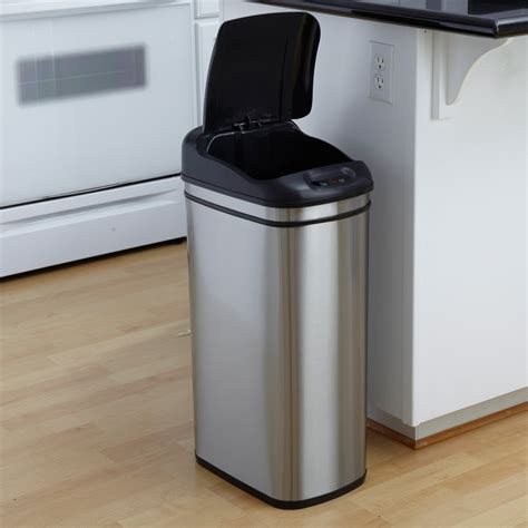 garbage can bed bath and beyond wonderful kitchen stainless steel trash can kitchen with