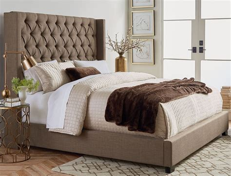 futon sets westerly brown upholstered king bed set the furniture mart