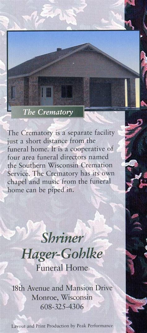 shriner hager gohlke funeral home wi 325 53566