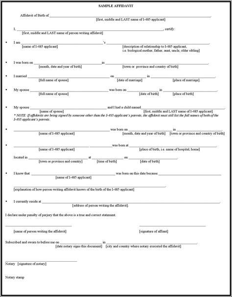 Affidavit of Birth   Download Free & Premium Templates