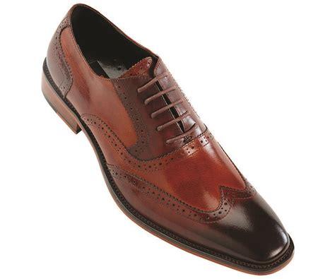 Azcost Wingtip steven land footwear mens two tone brown and cognac