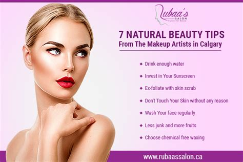 home beauty 7 natural beauty tips from the makeup artists in calgary