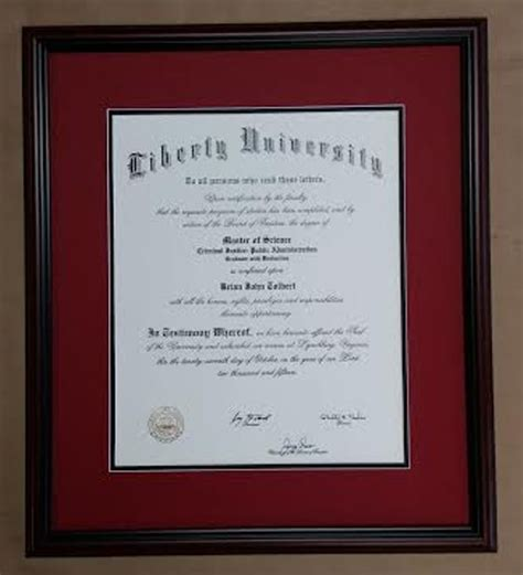 Liberty Mba Diploma Frame by Framed Liberty Diploma Columbia Frame Shop