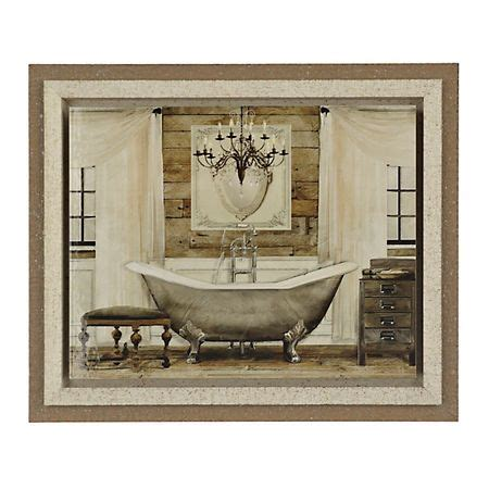 grand chrome bath framed art print kirklands stylish