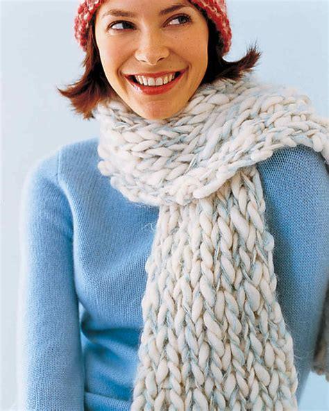 knit a scarf knitted scarves martha stewart