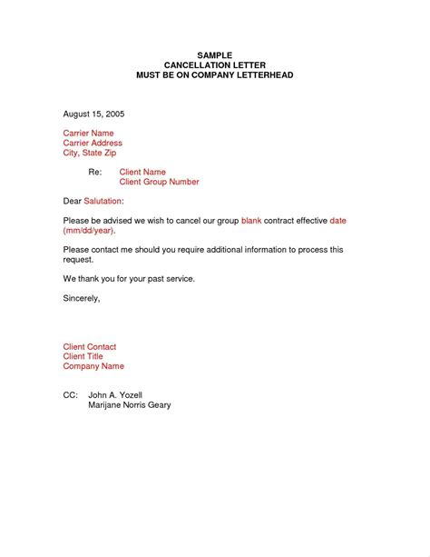connection cancellation letter format resume 8 cancel membership letter cashier resumes