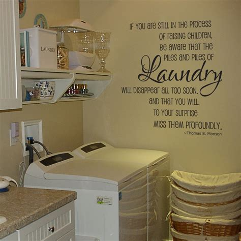 Decorating Laundry Room Walls by Laundry Piles Laundry Room Vinyl Wall Decal By Grabersgraphics