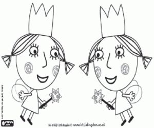 Poppy The Twins Fairies Little Sisters Of Holly Coloring Page sketch template