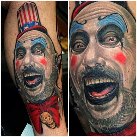 captain spaulding tattoo captain spaulding 3d in color tattoos