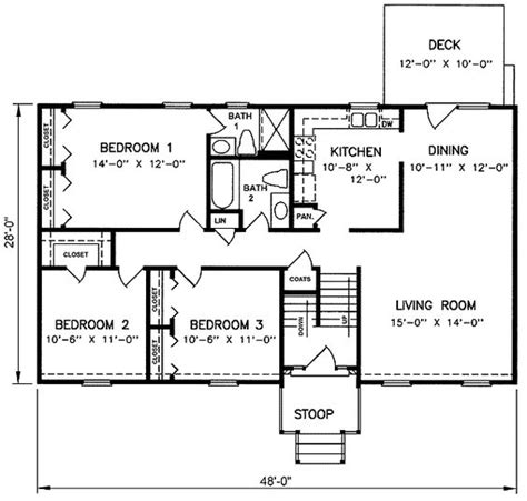 Split Level Floor Plans 1970 | 1970s split level house plans split level house plan