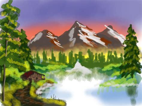 bob ross painting mountain retreat mountain retreat bob ross painting by o bore on