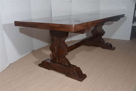 Antique Reclaimed French Oak Trestle Dining Table For Sale Trestle Dining Table Sale