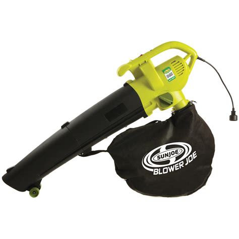 vacuum blower sun joe blower joe 3 in 1 electric leaf blower vacuum