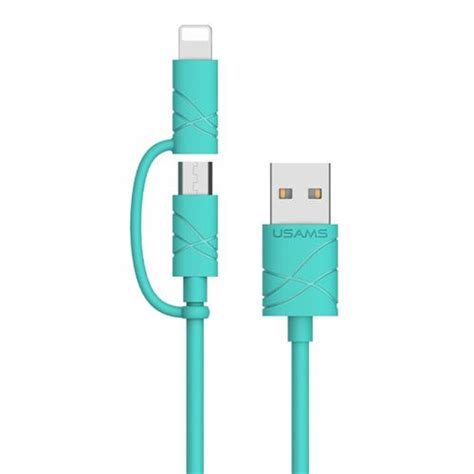 Kp526 Usams Series 2 In 1 Data Cable Fast Cahrging Kode Tyr582 3 usams u gee series 8 pin and micro 2 in 1 charge cable green