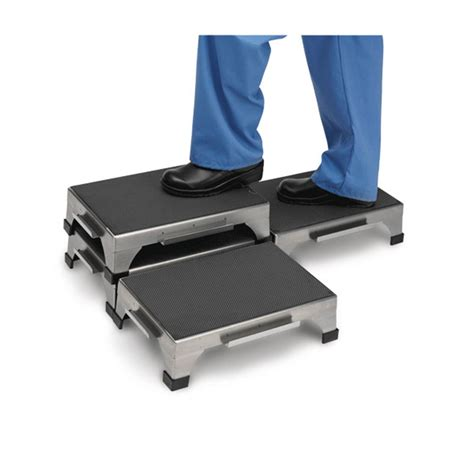 stainless steel stacking step stool by mid central stacking step stool marketlab inc