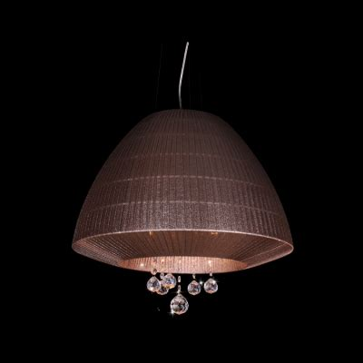 Brown Ceiling Light Shades 3 Light Brown Cone Shade 19 6 Quot Wide Ceiling Lighting Fixture Adorned By Clear