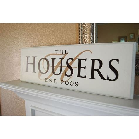 Handmade Family Name Signs - painted personalized custom family name wood sign plaque