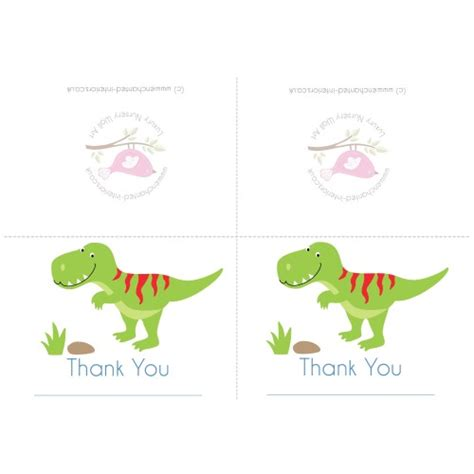 Large 11x17 Thank You Card Template by Free Downloadable Dinosaur Thank You Card