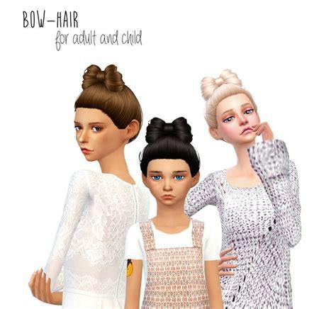 hair bow sims 4 custom content dani paradise non alpha bow hair sims 4 hairs http