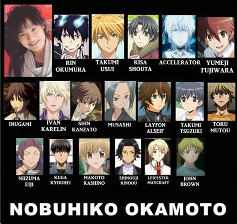 anime voice actors voice actor nobuhiko okamoto multi anime pinterest