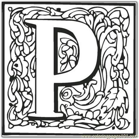P Coloring Pages by P Coloring Page Free Alphabets Coloring Pages