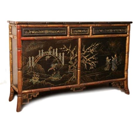 Bamboo Furniture by Painted Chinoiserie Bamboo Furniture