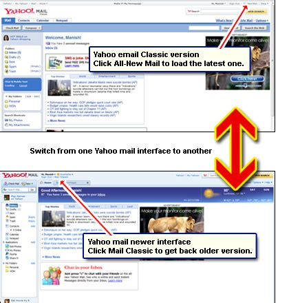 new layout of yahoo mail how to check yahoo email instructions