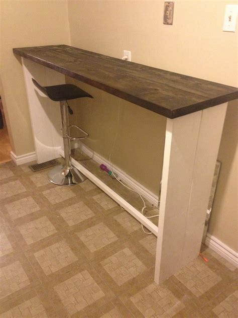 white lets make a bar table diy projects