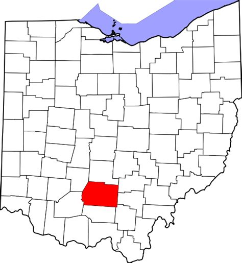 file map of ohio highlighting ross county svg