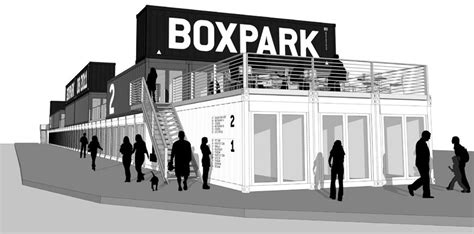 2 Family House Plans shipping containers at boxpark shoreditch
